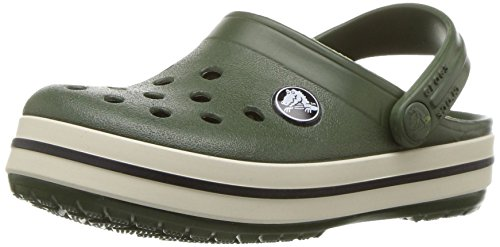 crocs Unisex-Kinder Crocbandclogk Clogs Grün (Forest/Stucco)