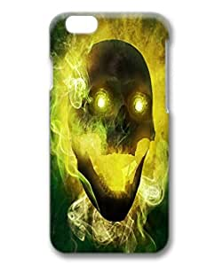 iPhone 6 case fashion durable 3D design phone case, pc material cover, with light skull .