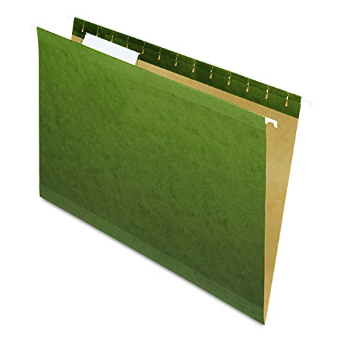 Pendaflex 415313 Hanging File Folders, 1/3 Tab, Legal, Standard Green (Box of 25) ()