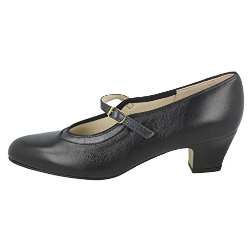 Ladies Nil Mary Bonnie Pewter Jane Black Black Shoes Simile vv5xqR4