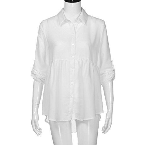 Chemisier Mousseline Blanc Taille De V Col Chemises Haut Longues Femme en Top Longues Grande Manches T De T Shirt Soie en Chic Shirt YxYqrwPB