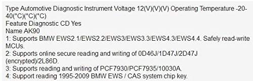 New AK90 For BMW ak90+ AK90 Key Programmer for All BMW EWS