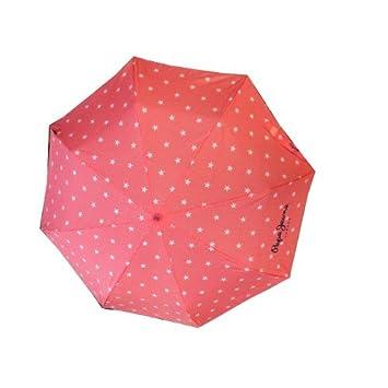 Pepe Jeans paraguas plegable estrellas rosa