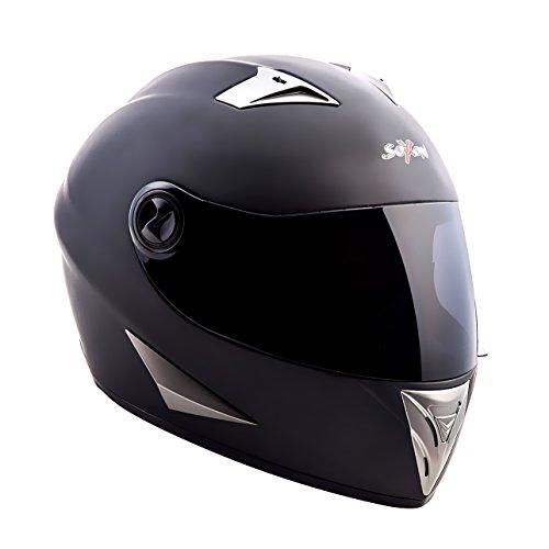 SOXON ST-550 Snow /· Sport Sturz-Helm Motorrad-Helm Helmet Roller-Helm Cruiser Scooter-Helm Integral-Helm Urban /· ECE zertifiziert /· inkl Sonnenvisier /· inkl 55-56cm Stofftragetasche /· Wei/ß /· S