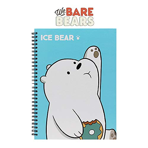 (We Bare Bears Hard Cover Spiral Notebook Note Pad 1pc : Ice Bear)