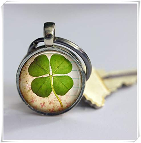 good luck Keychain,men's or women's key buckles,Pure hand made,dome glass ornaments,exquisite Keychain - Exquisite Key Ring