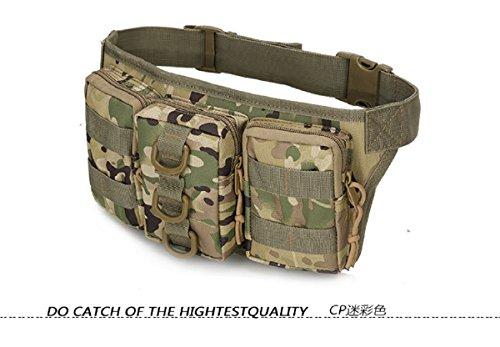 Tactical Herren Taille Taschen Hip Paket pochete Outdoor Sport Fanny Pack Wandern Reise groß Taille Pack