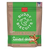 Cloud Star Soft & Chewy Buddy Biscuits Dog Treats, Roasted Chicken Flavor, 6 Oz Pouches (Pack of 6)