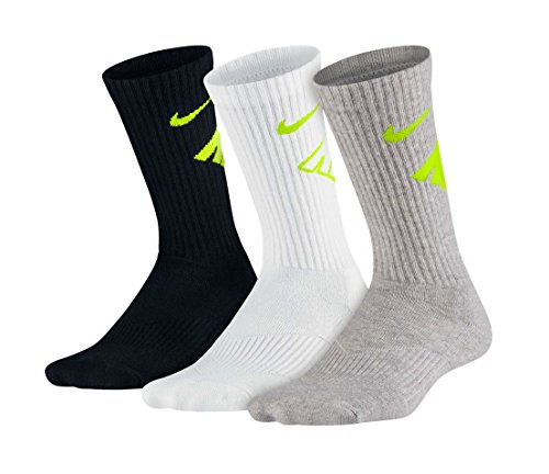 Nike gry wht Blk Medium confezione Crew Calze 3 Da Nero Cushion rzBvqr