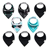 ALVABABY Baby Bandana Bibs for Girls 8pcs Pack Super Absorbent Baby Gift Settings 8SD16-CA