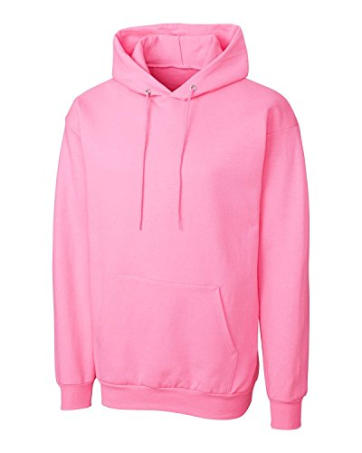Cutter & Buck MRK02001 Mens Clique Basics Flc P/O Hoodie S-Xxl, Candy Pink-XL