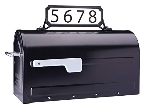Architectural Mailboxes 3460B Manhattan Address Plaque, Small, Black