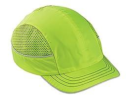 Ergodyne Skullerz 8950 Safety Bump Cap, Short Brim, Lime