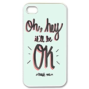 Hey it's ok Unique Design Case for Iphone 4,4S, New Fashion Hey it's ok Case