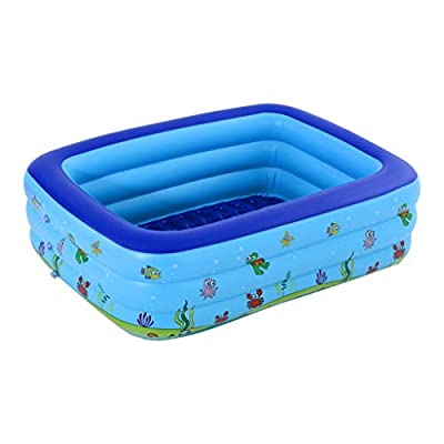 VEZARON Family Swimming Pool Garden Outdoor Summer Inflatable Kids Paddling Pools (Blue): Toys & Games