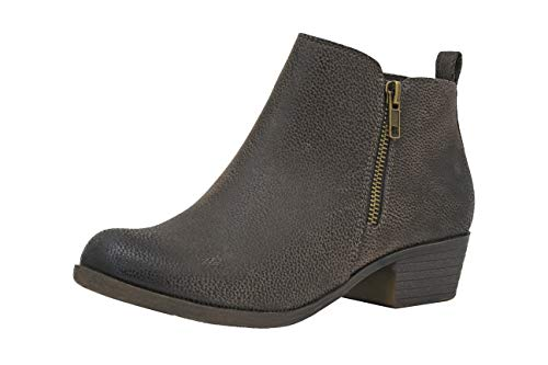 Dolly Ankle Boot - Dunes Women's Dolly Boots, Brown Rugged, 9.5W