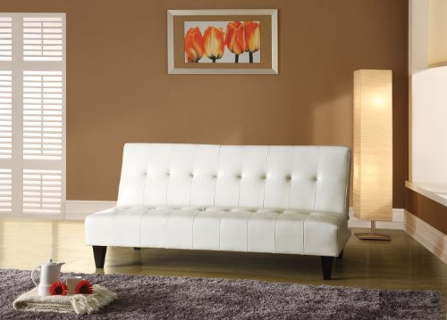 Acme 05858C Conrad Adjustable Sofa, White Polyurethane Finish