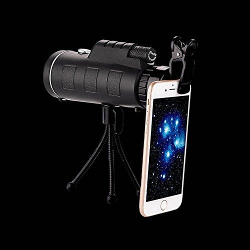 WY Télescope Monoculaire 40X60 Télescope Extérieur à Haute Définition Haute Puissance à Double Alignement avec un Support