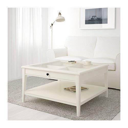 Amazon.com: IKEA mesa de centro de color blanco con parte ...