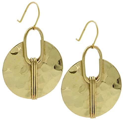 Gold Crescent Earring Hammered Ethnic | SPUNKYsoul Collection