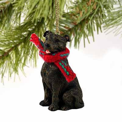 Staffordshire Bull Terrier Miniature Dog Ornament - Brindle