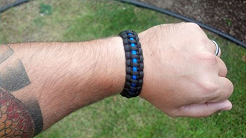 Law Enforcement Lifestyle Thin Blue Line Paracord Bracelet
