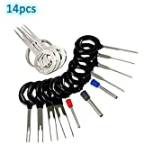 14pcs T0025D Auto Terminals Removal Key Tool Set   Car Electrical Wiring Crimp Connector Extractor Puller Release Pin Kit