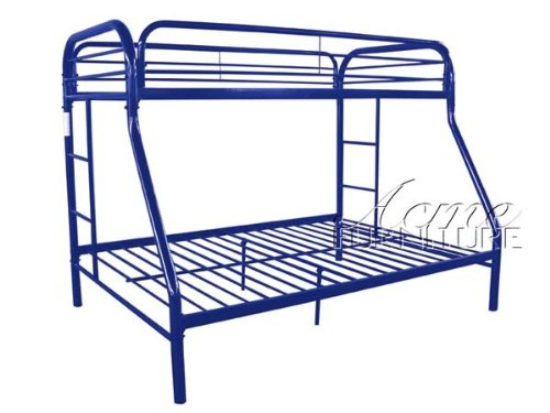 Blue Metal Twin/Full Bunk Bed by Acme Furniture