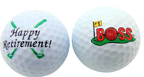 Westman Works Happy Retirement Boss Golf Ball Golfer Gift Pack, Set of 2