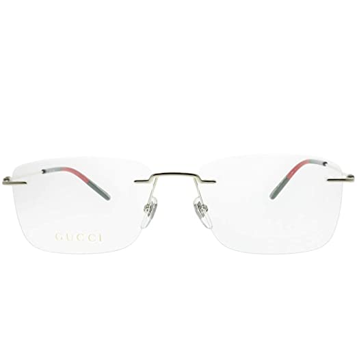 8a19650203e Amazon.com  Gucci GG 0399O 004 Gold Metal Rimless Eyeglasses 56mm  Clothing
