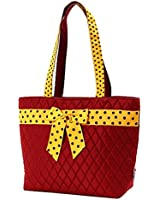 Belvah Quilted Solid Bucket Tote Bag Purse