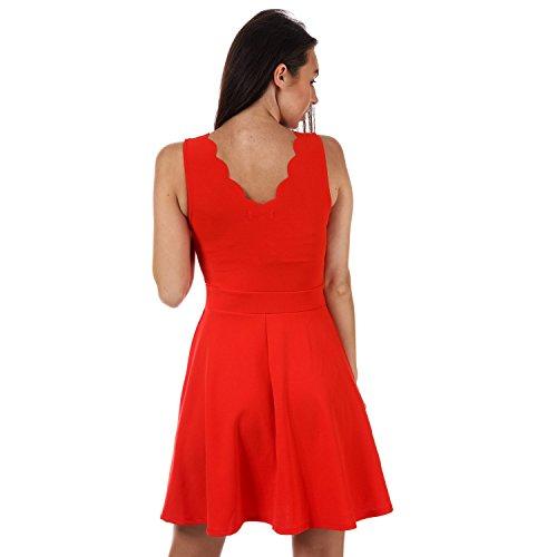 Un'anima Pattinatore Alex Delle Coraggiosa Donne Capesante Vestito Rosso Collo 40p7qv0