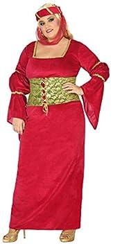 Atosa - Disfraz Dama Medieval, Color Rojo, XS-S (38810)