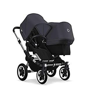 Bugaboo Donkey 2 Duo, 2 in 1 Pram and Double Pushchair for Baby and Toddler, Steel Blue