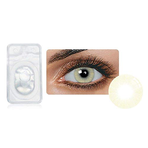 Multi-Color Attractive Fashion Cosplay Party Eyes Lenses A Pair with Case-(US Stock) - Crystal ()
