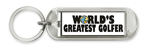 ized Solar Flashing Keychain - World's Greatest Golfer (10037) ()
