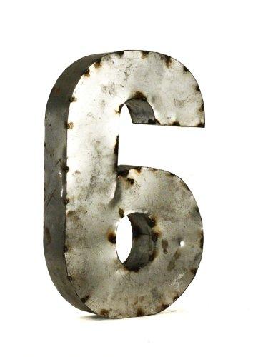 ZENTIQUE Metal Number, Small, Monogrammed 6