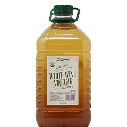 Organic White Wine Vinegar with the Mother 1 Gallon