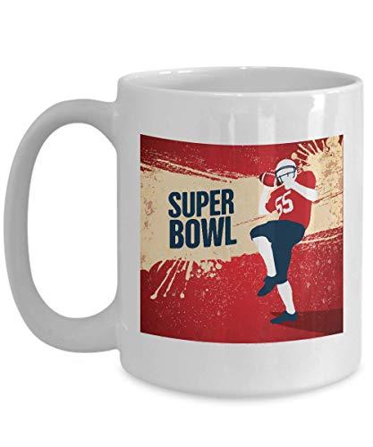 Mama Mug -American Football Mug - Super Bowl - Sport Gridiron Rugby Football Helmet Soccer Fighter Battle - White Ceramic Novelty Tea Coffee Cup 15 Oz