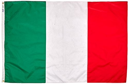 Annin Flagmakers Model 194000 Italy Flag Nylon SolarGuard NYL-Glo, 4x6 ft, 100% Made in USA to Official United Nations Design Specifications