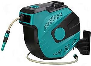 FCH 65pies compresor de aire agua carrete de manguera retráctil montaje en/portátil ligero Auto Rebobinado garaje herramientas con manguera Max. 300PSI