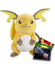 Lively Moments Pokemon pluche dier / groot knuffeldier / pluche figuur ca. 30 cm Raichu en exclusieve gratis wenskaart