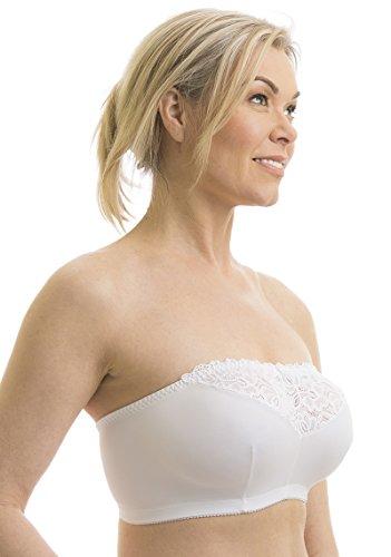 (Carole Martin Strapless Comfort Bra -34 White)