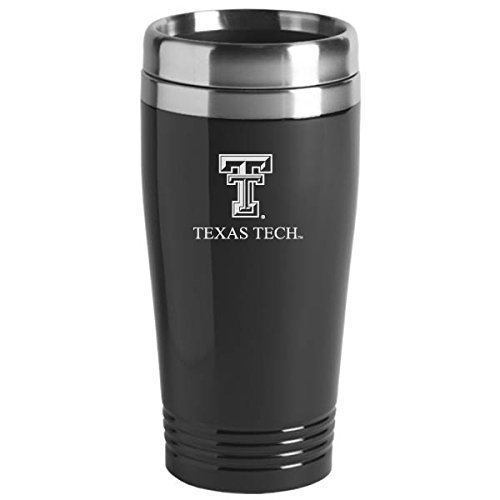 Texas Tech University - 16-ounce Travel Mug Tumbler - Black