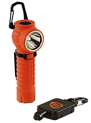 Streamlight 88832 PolyTac LED Flashlight with Gear Keeper, Orange