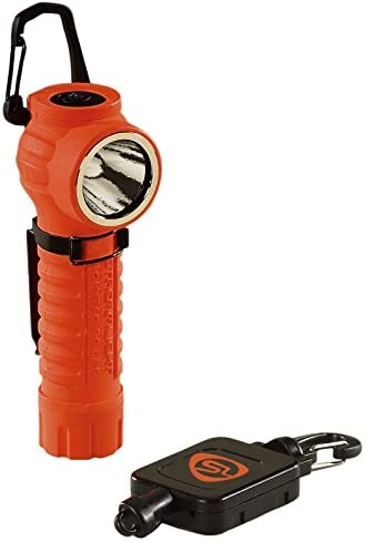 Streamlight 88832 PolyTac 90 LED Flashlight with Gear Keeper, Orange – 170 Lumens