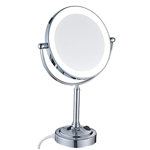 5 X Mirror (GuRun 8 Inch Tabletop Magnifying Makeup Mirror With 5x Magnification,Chrome Finish M2011D(8in,5x))