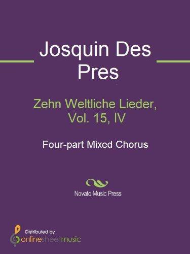 Zehn Weltliche Lieder, vol.15, III