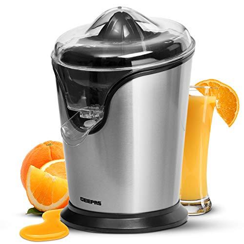 Andrew James Citrus Juicer Machine Freshly Pressed Fruit Juices in Seconds 40W Squeezes Oranges Lemons Limes