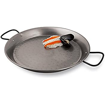 Paderno World Cuisine A4172447 Spanish paella pan, 18 1/2in, Gray